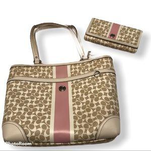 COACH Chelsea Heritage bag & wallet set